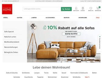 Main page screenshot of fashion4home.de