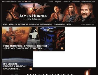 jameshorner-filmmusic.com screenshot