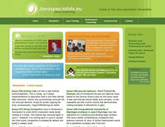 javaspecialists.eu screenshot