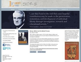 Main page screenshot of libertyfund.org