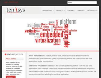 Main page screenshot of tenasys.biz