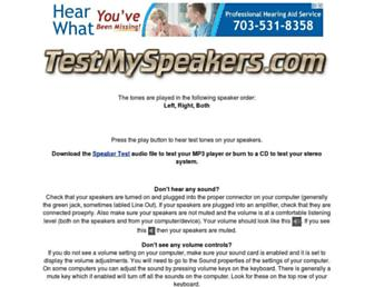 testmyspeakers.com screenshot