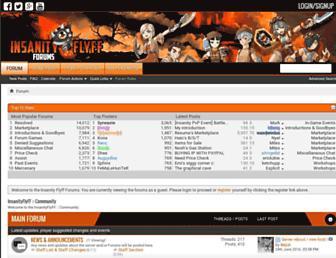 forums.insanityflyff.com screenshot