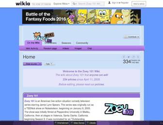 zoey101.wikia.com screenshot