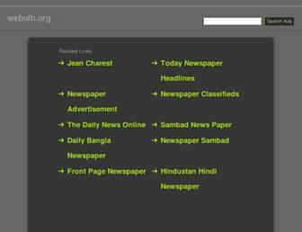 webulb.org screenshot