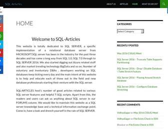 sql-articles.com screenshot