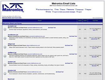 forums.matronics.com screenshot