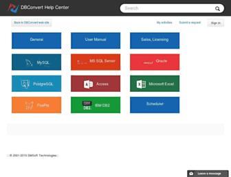 support.dbconvert.com screenshot