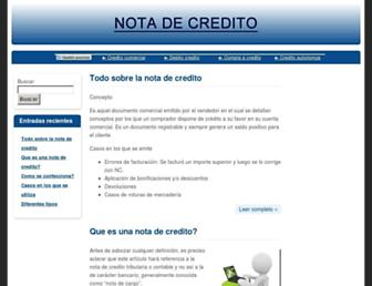 notadecredito.net screenshot