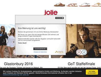 Main page screenshot of jolie.de