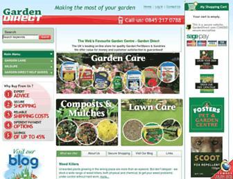 Main page screenshot of gardendirect.co.uk