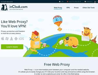 incloak.com screenshot