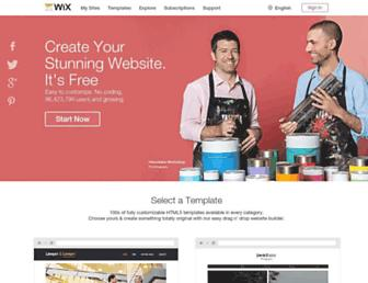 wix.com screenshot