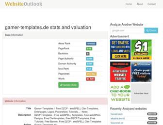 gamer-templates.de.websiteoutlook.com screenshot