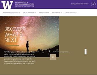 pce.uw.edu screenshot