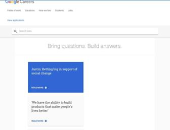 careers.google.com screenshot
