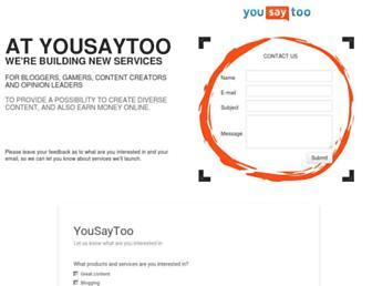 yousaytoo.com