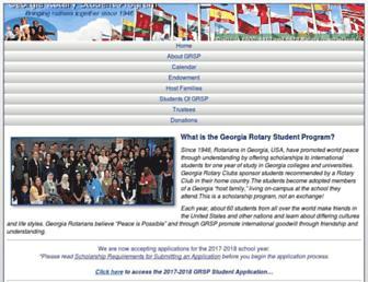 Main page screenshot of grsp.org