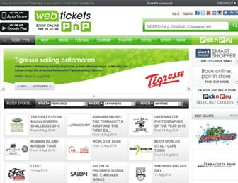 webtickets.co.za screenshot