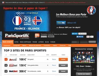 parissportifs.com screenshot