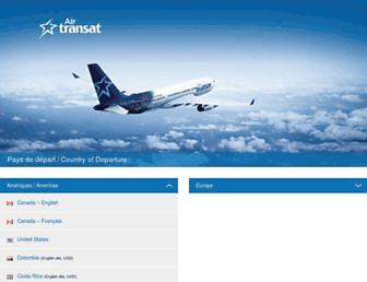 airtransat.com screenshot