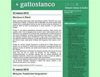 Main page screenshot of gattostanco.diludovico.it
