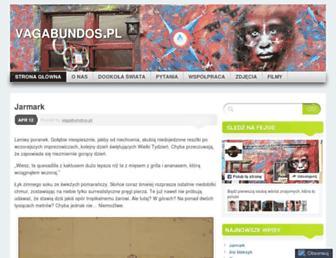 Main page screenshot of vagabundos.pl