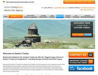 easternturkeytour.org screenshot