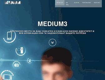 Main page screenshot of medium3.mk
