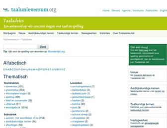 Main page screenshot of taaladvies.net