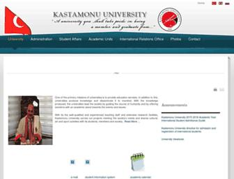 kastamonu.edu.tr screenshot