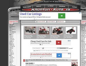 Main page screenshot of anunturi-auto.ro