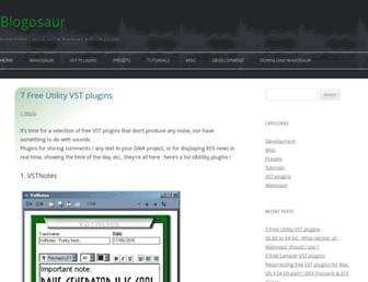 blog.wavosaur.com screenshot