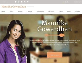 maunikagowardhan.co.uk screenshot