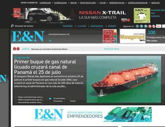 Main page screenshot of estrategiaynegocios.net