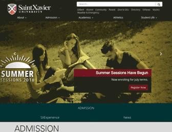 sxu.edu screenshot