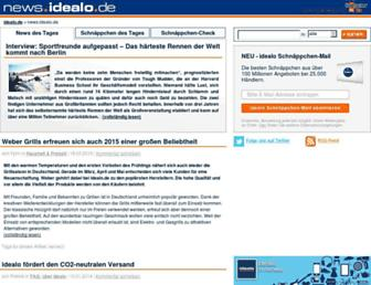 Main page screenshot of news.idealo.de