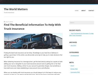 Main page screenshot of theworldmatters.org