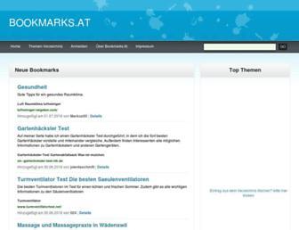 Main page screenshot of bookmarks.at
