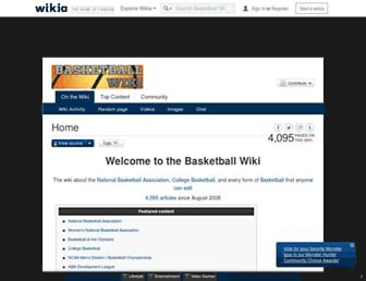 basketball.wikia.com screenshot