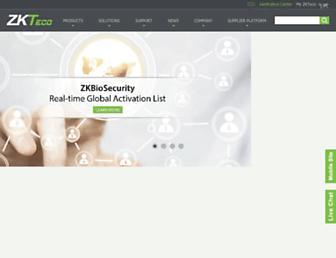 zkteco.com screenshot