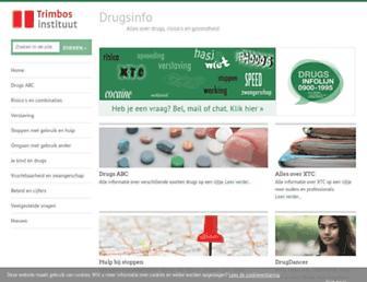 Main page screenshot of drugsinfo.nl