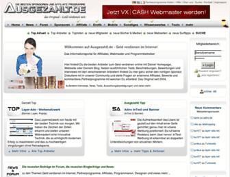 Main page screenshot of ausgezahlt.de