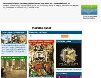 Main page screenshot of moderne-kunst.startpagina.nl