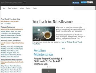 thank-you-notes.com screenshot