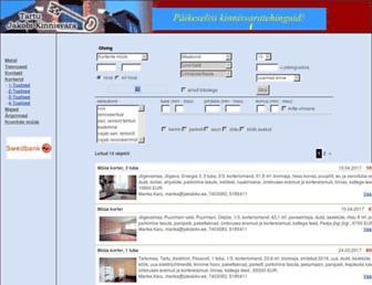 Main page screenshot of jakobikv.ee