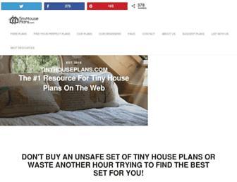 tinyhouseplans.com screenshot