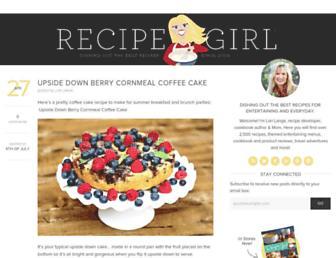 recipegirl.com screenshot