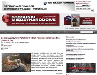 Main page screenshot of stosunki.pl