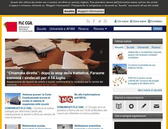 Main page screenshot of flcgil.it